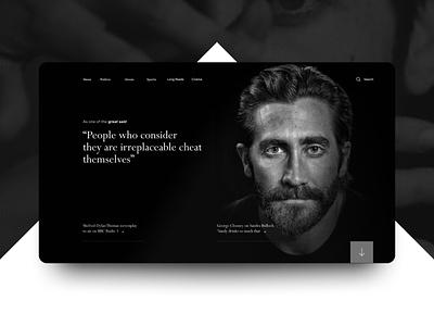 Concept web website landing design ux ui