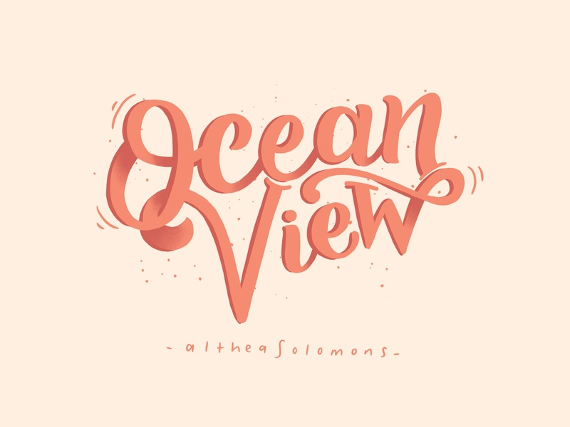 Local is Lekker: Ocean View, Cape Town city typography southafrica local is lekker cape flats cape town quote vector typography illustration hand drawn flat calligraphy flat illustration