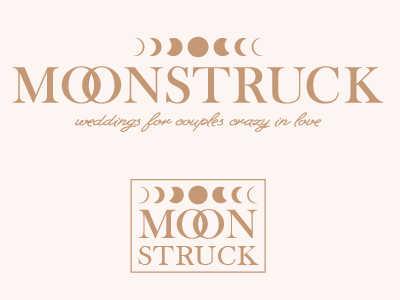 Moonstruck Conceptual Branding moon phases wedding logo moon