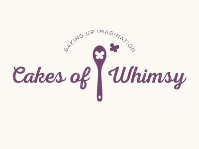 Cakes of Whimsy bakery logo spoon baking cake