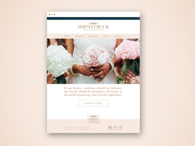 Moonstruck Conceptual Branding website wedding