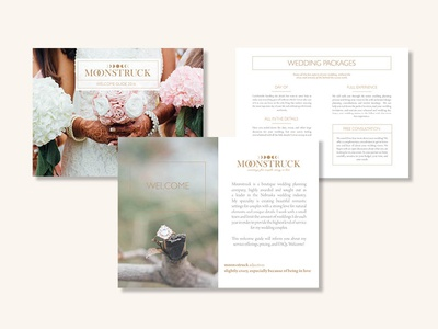 Moonstruck Conceptual Branding media kit welcome kit wedding