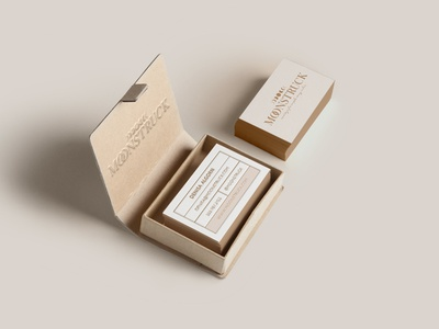 Moonstruck Conceptual Branding wedding business cards
