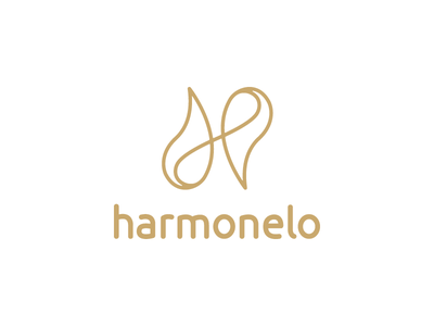 Harmonelo drop h logo health harmony corporate identity branding mark logo design logotype brand logo