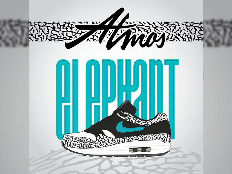 Atmos Elephant airmax elephant poster atmos nike shoe sneaker typography typo lettering handlettering logotype logo