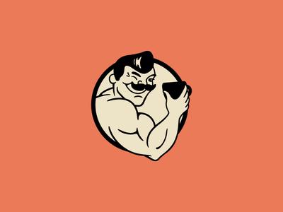 Strongman's Broths corporate identity graphic design logo design visual branding brand mark logo broth strongman