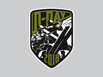 D-DAY 2018 landing in normandy battle soldiers illustration usa war normandy d-day was world design patch