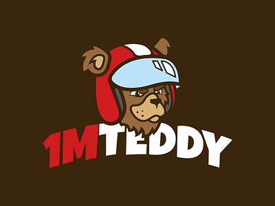 1MTeddy logo teddy bear 1m motorbike bike motogp driver motorcycle logo design