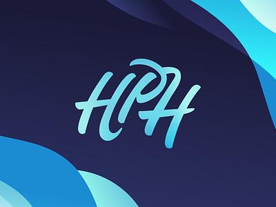 HPH graphic design logo design calligraphy brand logo logotype typography handlettering
