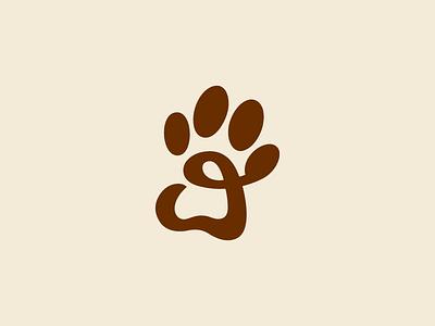 Paw animal dog paw icon logo design mark logotype graphic design corporate identity handlettering brand logo