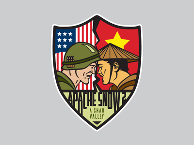 Apache Snow 2 patch pvc vietnam usa graphic design illustration