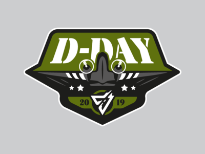 D-DAY 2019 patch normandy d-day world war illustration graphic design design
