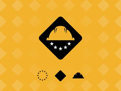 Europe Reconstruction construction reconstruction europe logo design icon mark graphic design corporate identity logotype brand logo
