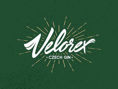 Velorex gin czech velorex lettering symbol icon illustration branding mark corporate identity typography calligraphy handlettering typo graphic design logotype brand logo