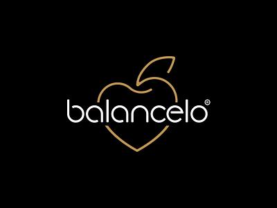 Balanced Love line simple luxury apple heart love balance visual logo design icon symbol mark corporate identity branding typography graphic design logotype brand logo