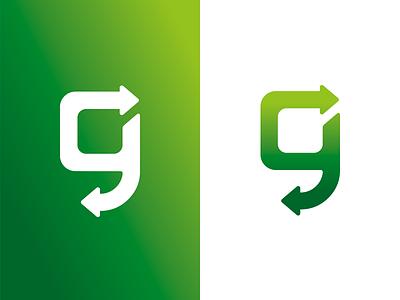 Glass recycle recycle glass symbol branding mark corporate identity logo design graphic design logotype brand logo