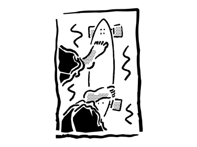 Retro Skate B&W black and white linocut cut out halftone lineart surf longboard skateboarding oldschool vintage retro sketch ipad drawing comic vector procreate illustrator minimal illustration