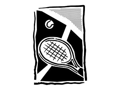 Tennis Time oldschool vintage retro minimalist sports tennis racket tennis lineart line blackandwhite sketch ipad drawing comic vector procreate illustrator minimal illustration