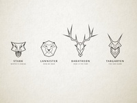 Game of Thrones House Sigil Illustrations