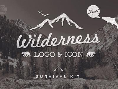 Wilderness Logo & Icon Survival Kit freebie vectors logo icons outdoors wilderness