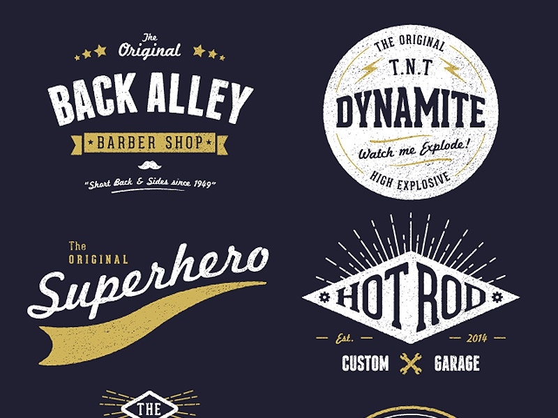 Customisable vector vintage logo designs by chris spooner for Design lago