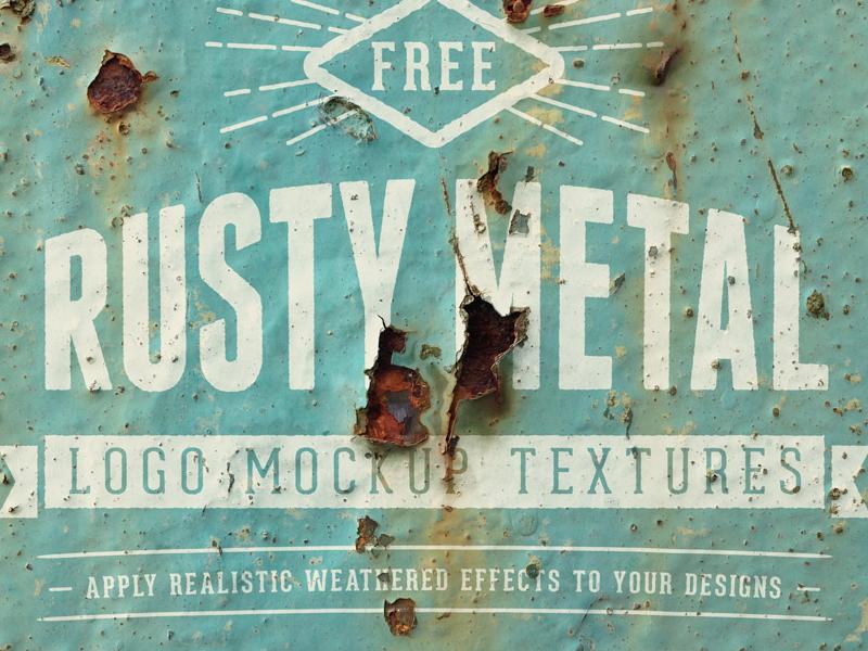 Free Rusty Metal Logo Mockups logo mockup texture rust paint template psd