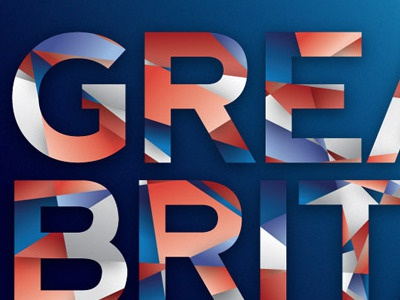Great Britain Geometric/Mosaic Text Effect  text geometric abstract mosaic