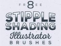 Free Stipple Shading Illustrator Brushes