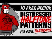 Free Distressed Halftone Patterns for Illustrator