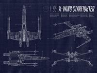 X-Wing Starfighter Blueprint