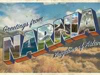 Vintage 'Large Letter' Postcard Design