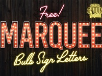 Free Marquee Bulb Sign Letters