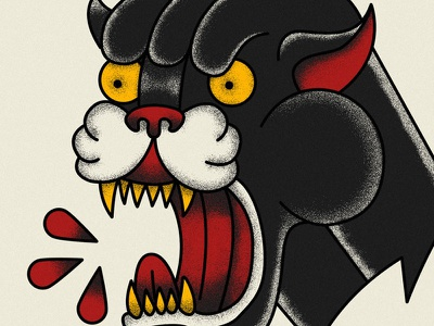 Tattoo Style Panther Illustration panther illustration tatto flash flash tattoo