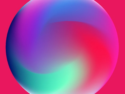 Colorful Gradiet Orb illustrator tutorial gradient circle orb gradient