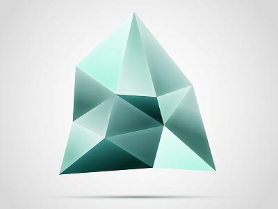 Faceted gemstone style logo graphic illustrator icon logo vector gemstone