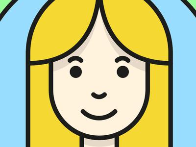 Simple vector avatar character