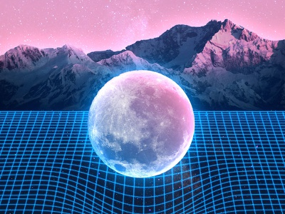 80s Inspired Retrowave Art tutorial photoshop 1980s sci-fi retrowave 80s
