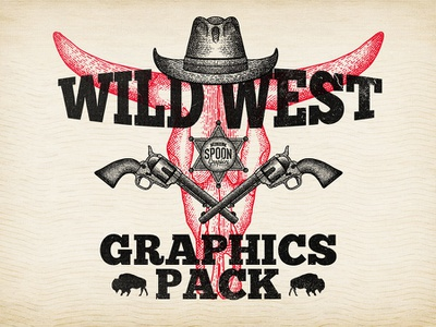 Free Wild West Graphics Pack illustration graphics cowboy western wild west