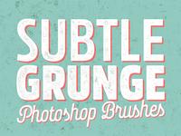 Free Subtle Grunge Photoshop Brushes