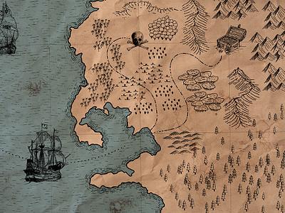 Treasure Map Maker vintage illustration vector fantasy map map illustrator resources free treasure map
