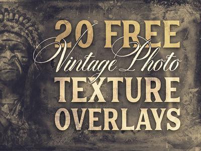 Free Vintage Photo Texture Overlays