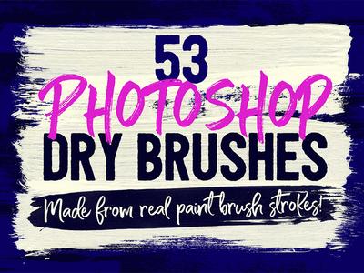 53 Free Photoshop Dry Brushes