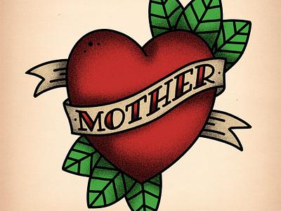 Old School Tattoo Illustration tutorial heart mother photoshop old school tattoo