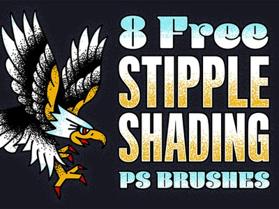 Stipple Shading PS Brushes stipple photoshop brushes photoshop stipple shading