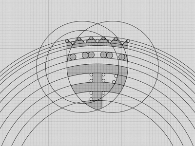 Padergnone Football Club - Geometry brand branding design branding construction design drawing geometry grid icon identity logo logo design mark vector scudetto football soccer club sport illustration
