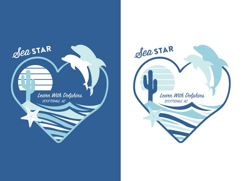 Sea Star company shirt deisgns product design product tshirt tshirt design icon flat vector typography logo branding illustration art design