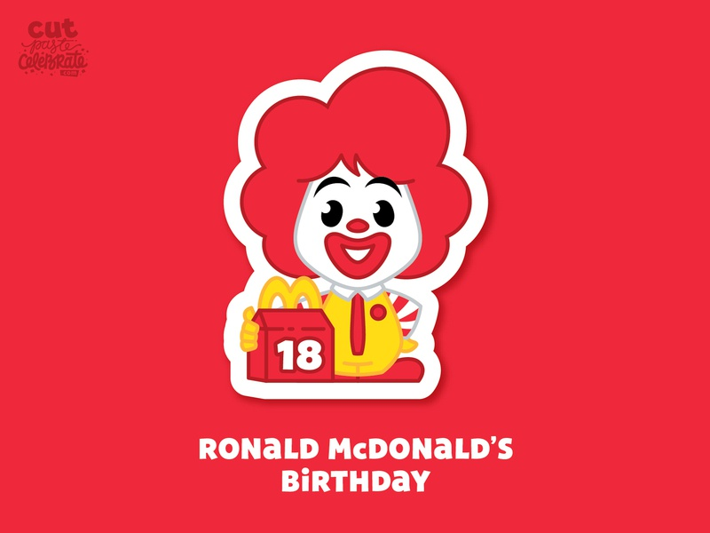 September 18 - Ronald McDonald's Birthday fan art birthday fast food happy meal clown mcdonalds ronald mcdonald