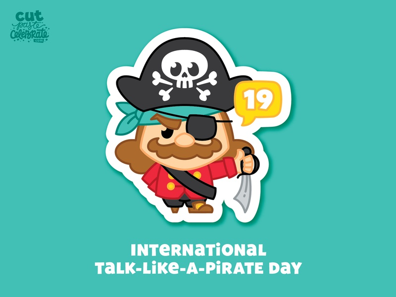 September 19 - International Talk-Like-A-Pirate Day celebrations holiday holidays september crossbones skull skull and crossbones talk-like-a-pirate pirate