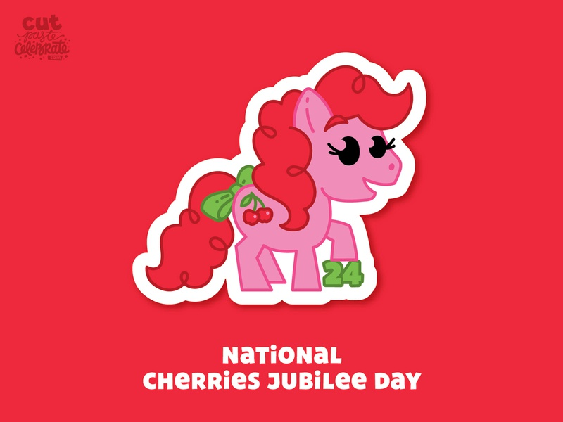 September 24 - National Cherries Jubilee Day horse pony cherries cherry cherries jubilee cherries jubilee my little pony
