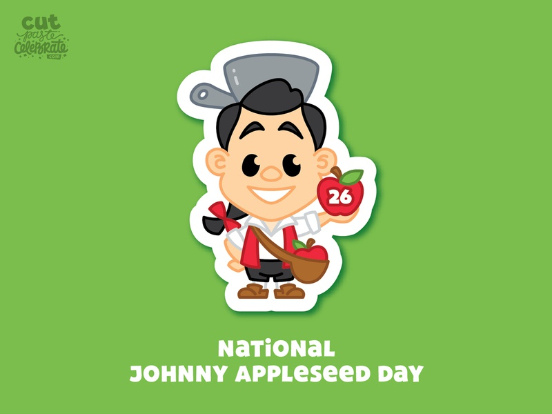 September 26 - National Johnny Appleseed Day disney character cute caricature appleseed apple johnny appleseed